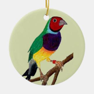 ~ Gouldian Finch ~ Original Art ~ Ceramic Ornament