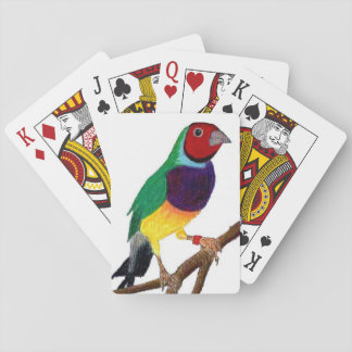~ Gouldian Finch ~ Original Art ~ Playing Cards