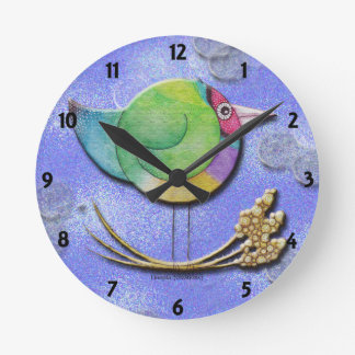 Gouldian Sky Round Wall Clock