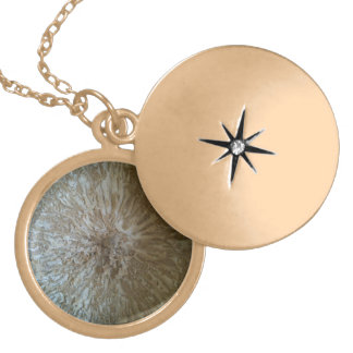 Gourd locket-- look inside gold plated necklace