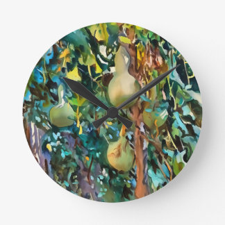 Gourds After John Singer Sargent Round Clock