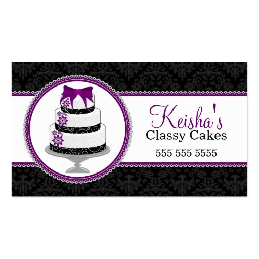 Gourmet Cake Bakery Business Cards