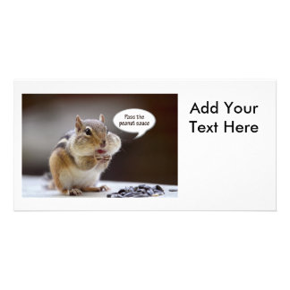 Gourmet Chef or Cook Chipmunk Photo Photo Card Template