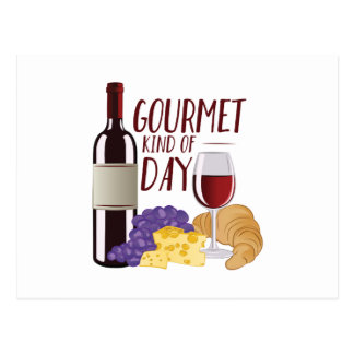 Gourmet Day Postcard