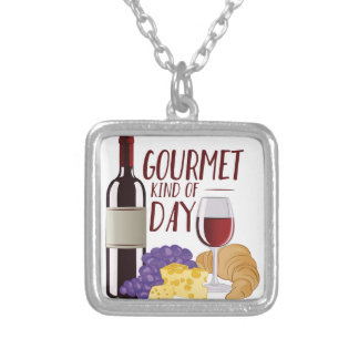 Gourmet Day Silver Plated Necklace