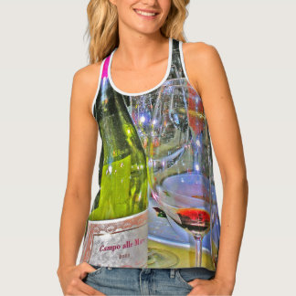 Gourmet Designs -Tanks -  Wine Glasses Singlet