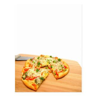 Gourmet Veggie Pizza Postcard