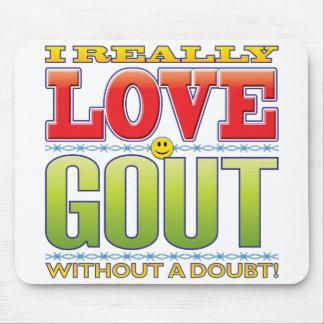 Gout Love Face Mouse Pads