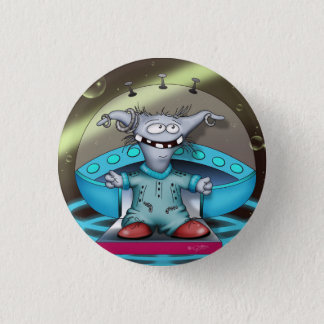 GOUZOUILLE CUTE ALIEN Small, 1¼ Inch 3 Cm Round Badge