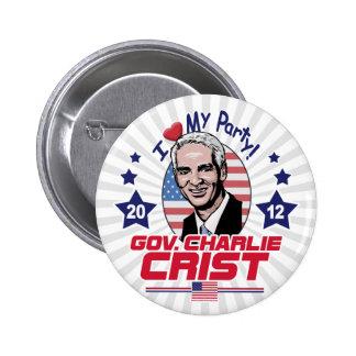 Gov. Charlie Crist 2012 Gear 6 Cm Round Badge