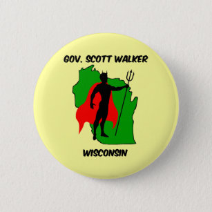 Gov Scott Walker 6 Cm Round Badge