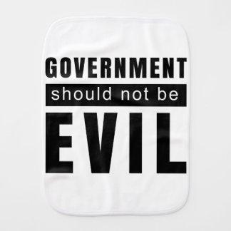 Goverment shouldn't be evil burp cloth
