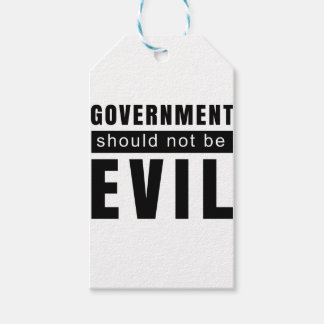 Goverment shouldn't be evil gift tags