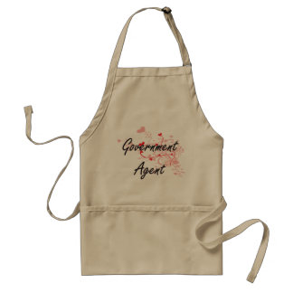 Government Agent Artistic Job Design with Hearts Standard Apron