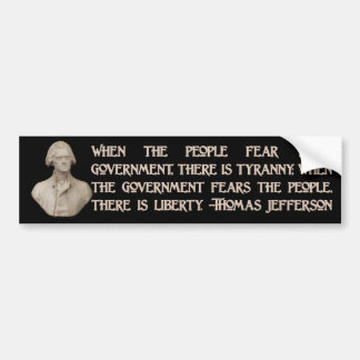Government and the People Bumper Sticker