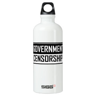 Government Censorship Water Bottle
