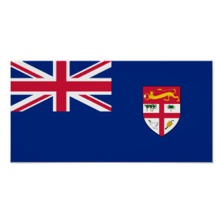 Government Ensign Of Fiji, ethnic Posters