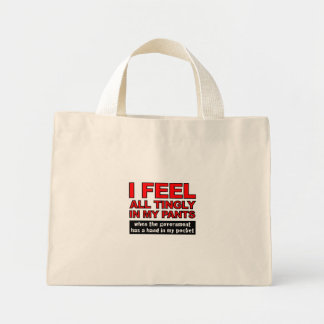 Government Foreplay - Designer Tiny Tote Mini Tote Bag