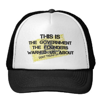 Government Founding Fathers Warned.png Trucker Hats