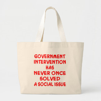 Government Intervention Canvas Bags