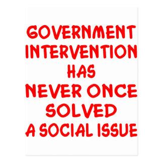 Government Intervention Postcard