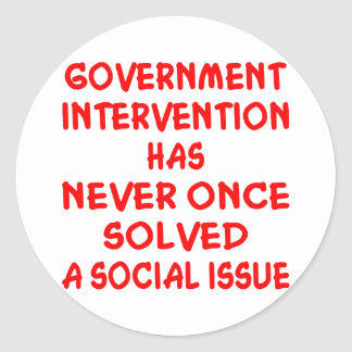 Government Intervention Round Sticker