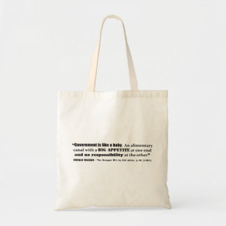 Government Is Like A Baby Ronald Reagan Quote Tote Bag
