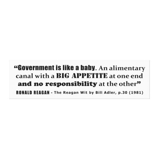 Government Is Like A Baby Ronald Reagan Quote Gallery Wrapped Canvas