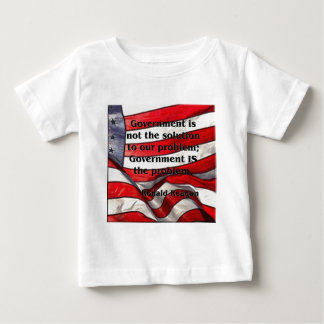 Government is not the solution - Reagan Quote Baby T-Shirt