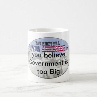 government is too big basic white mug