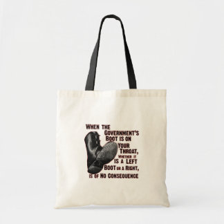 Government Jack Boot On Your Neck Canvas Bags