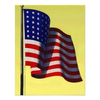 GOVERNMENT MILITARY OLD GLORY PARTY INVITATION
