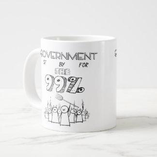 Government of by and for the 99% jumbo mug
