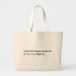 Government Regulated Health Care Canvas Bag