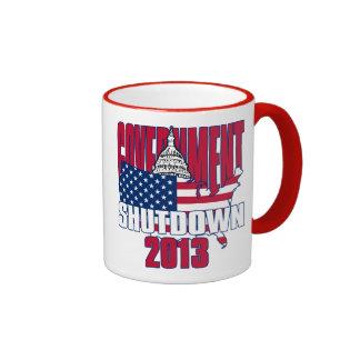 Government Shutdown 2013 Coffee Cup Ringer Mug