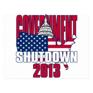 Government Shutdown 2013 Postcard