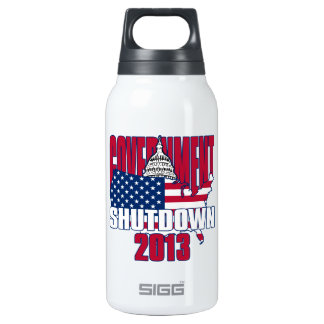 Government Shutdown 2013 10 Oz Insulated SIGG Thermos Water Bottle