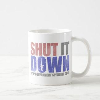 Government Shutdown - Shut It Down Basic White Mug