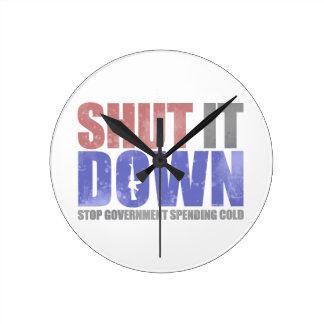 Government Shutdown - Shut It Down Clock