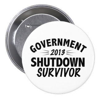 Government Shutdown Survivor Buttons