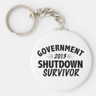 Government Shutdown Survivor Key Chain