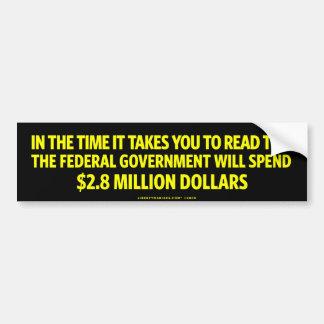 Government Spending Shock Bumper Sticker