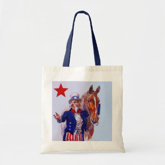 GOVERNMENT UNCLE SAM & CALVARY MOUNT TOTE BAGS