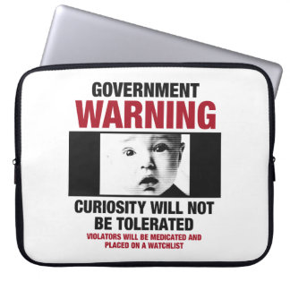 Government Warning Laptop Sleeve