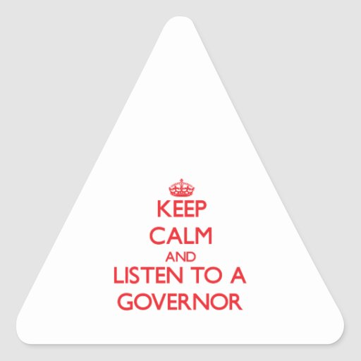 GOVERNOR8626.png Triangle Sticker