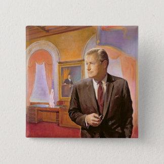 Governor Nelson A. Rockefeller 15 Cm Square Badge