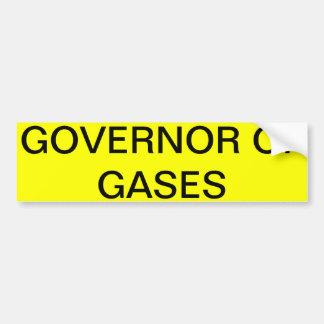 GOVERNOR OF GASES Bumper Sticker