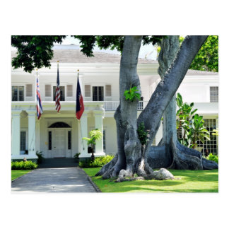 Governors Mansion of Honolulu Postcard