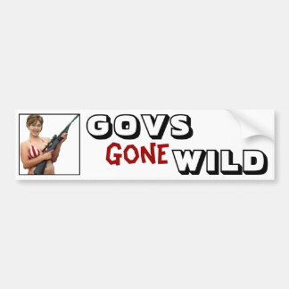 Govs Gone Wild: Sarah Palin Bumper Sticker