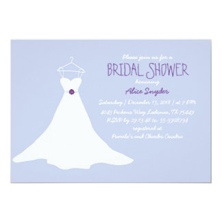 Gown Bridal Shower Invitation (Lavender&Purple)